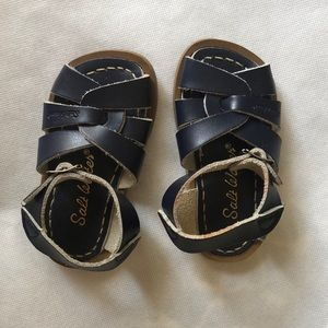 Salt Water kids leather shoes - Navy